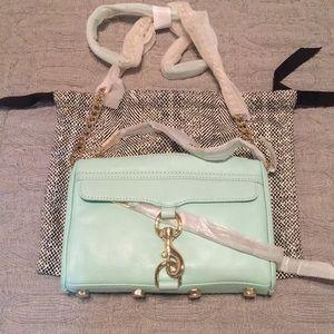 NWT Rebecca Minkoff Mint MAC Mini Crossbody Bag
